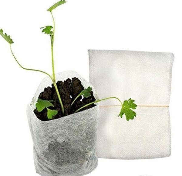 100 pcs Em Um Conjunto de Tecido Não Tecido Do Berçário Saco de Plantas De Botânica Mudas de Mudas de Nutrição Sacos de Plantio Eco Friendly Jardim