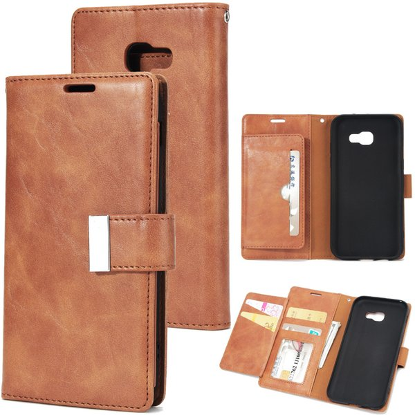 For Samsung Galaxy A3 A5 A7 2017 Leather Flip cell Phone Cases For Samsung Galaxy J3 J5 J7 2017 PRIME Leather Wallet Case Cover