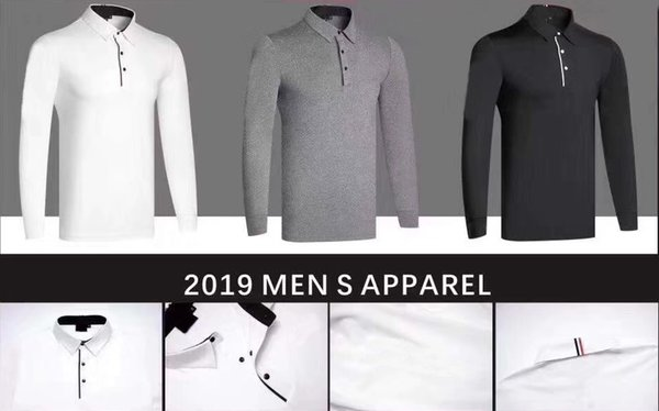 best selling 2019 OEM Ti golf T-shirt Spring Autumn long sleeve sports functional cloth dry fast anti-UVA sport shirts 3 colors available