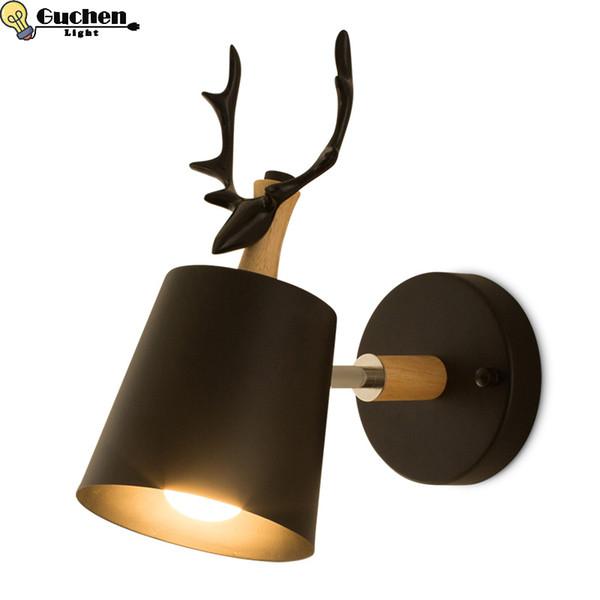 modern nordic creative wall lamps art design for living room bedroom bedside light bracket black wall sconces led lustre home