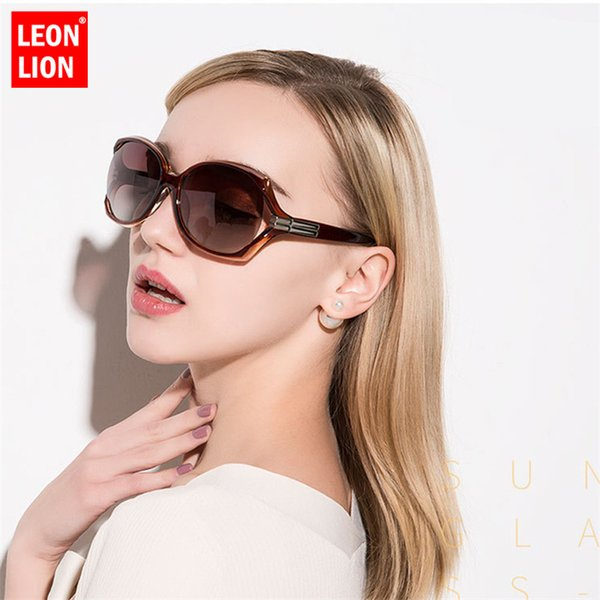 Leonlion Vintage Big Frame Sunglasses Women Gradient Glasses For Women Wild HD Oculos De Sol Feminino Classic Small Fac Unisex