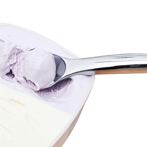 Ice Cream Spoon Zinc Alloy Ice Cream Scoop Plastic Black Handle Ice Cream Dipper Fruit Watermelon Scooper Kitchen Accessories Retail Box