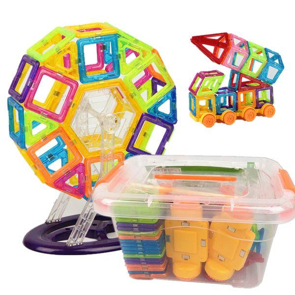 142pcs Mini Magnetic Designer Plastic Magnetic Blocks Construction Set Model & Building Toy Educational Toys Kids Gift With BoxMX190820