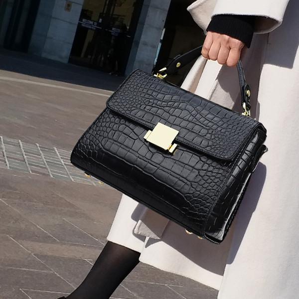 Crocodile Pattern Bag Women Leather Handbags Fashion Totes Evening Package Shoulder Messenger Crossbody Bag Female Briefcase