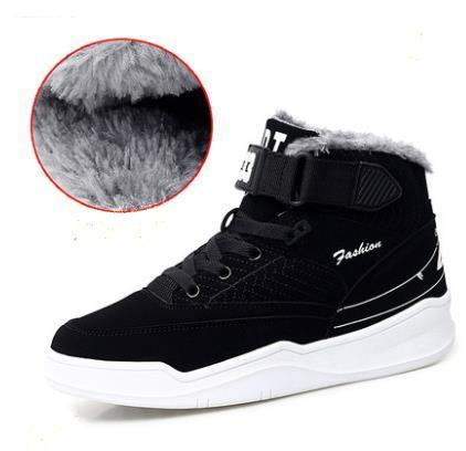 New Men Shoes Winter With Plush Warm Ankle Boots Fashion Wear-resisting Rubber Sole Casual Boots Unisex High Male Sneakers