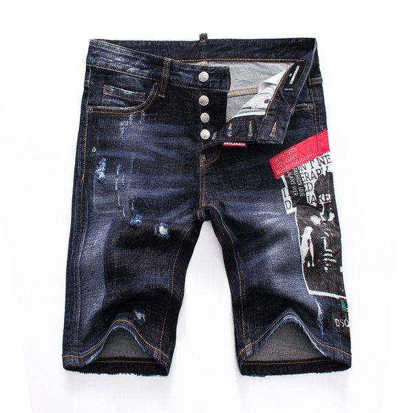 Wholesale- Italian luxury Rose Embroidered Jeans 2019 New Designer Men Jeans Famous Brand Slim Fit Mens Printed Jeans Biker Denim Pants