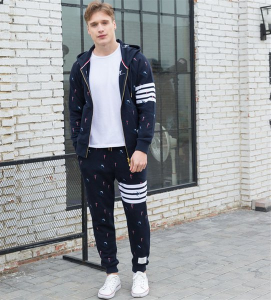 2019 Men's Hooded Dyed Jacket With Skiing Embroidery Spring Sport Sweatshirts Men Cotton Couple Wear Zipper Hoodies Male