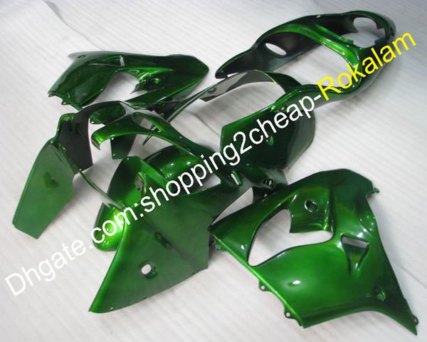 Karosserieverkleidung für Kawasaki ZX9R 00 01 ZX-9R 2000 2001 ZX 9R Komplette grüne Custom-Motorradverkleidung