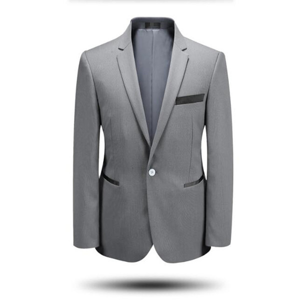 Latest design men suits jacket tailor made groom wedding tuxedos jacket pure color formal business suits