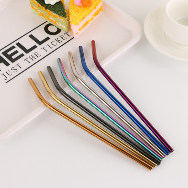 304 Stainless Steel Straws Reusable Drinking Straw Straight Bent Metal Straw Party Bar Drinking Straws Free Shipping
