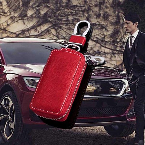 Leather Car Key Cover Key Case for mitsubishi buick bmw Opel Volkswagen vw honda Kia ford focus audi a4 skoda mazda key bags shell