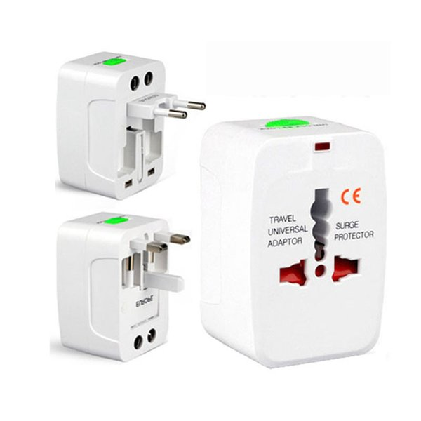 Prise d'alimentation électrique adaptateur de voyage Adaptateur de voyage international Prise de voyage universelle Convertisseur de puissance USB Convertisseur EU UK US AU