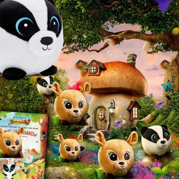 2019 new gang slodziakow 18cm plush toy cute fox bear leopard rabbit rabbit owl hedgehog forest cartoon doll children birthday Christmasgift