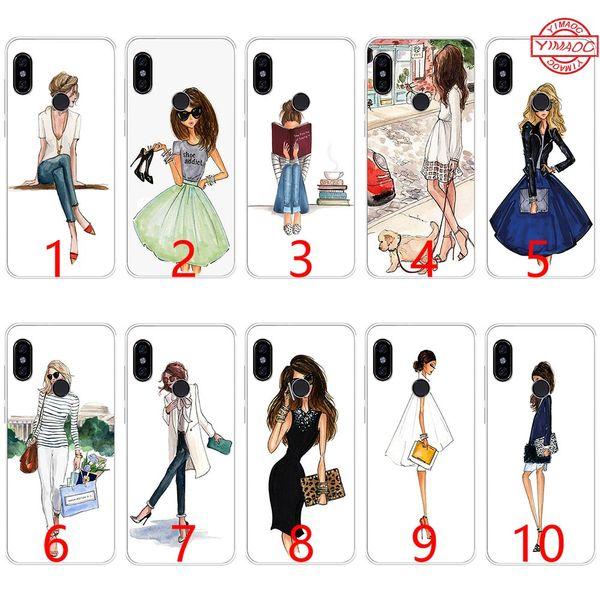 Reisen schöne bikini girl weiche silikon tpu telefon case für xiaomi mi a1 5x6 6x8 se mix 2s a2 lite abdeckung