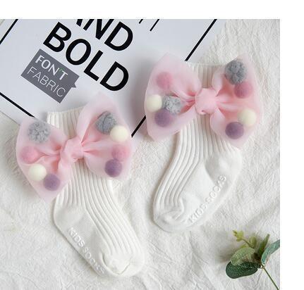 5pairs/10 pcs Newborn Baby Girls Socks With Big Bows Toddlers Infants Cotton Ankle Socks For Kids Girls Princess Sock Cute Children Socks