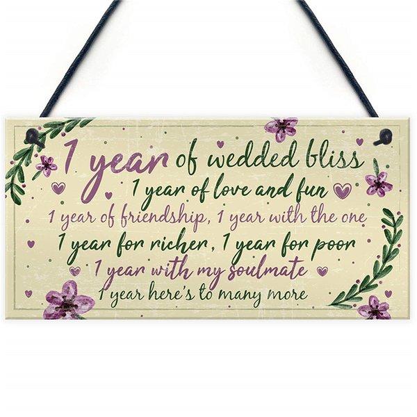 Großhandel 1 Hochzeitstag Karte Geschenk Für Ehemann Frau Erstes Jahr Für Sie Von Kaishihui 1528 Auf Dedhgatecom Dhgate