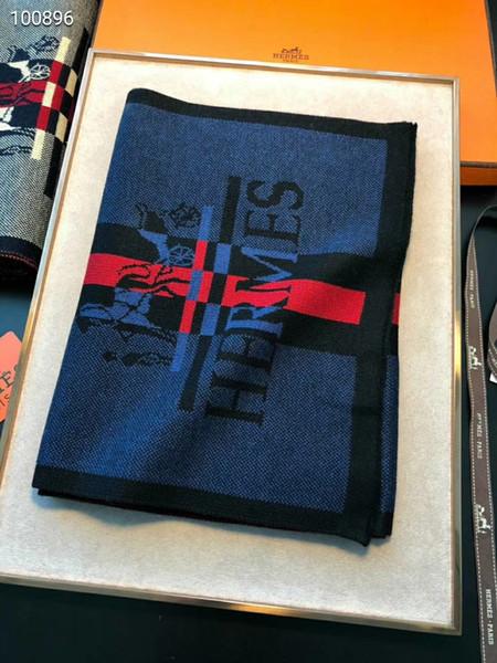 Foulard pour homme haut de gamme luxe automne / hiver boutique châle designer écharpe H 180 * 30cm de bonne qualité douce et lisse