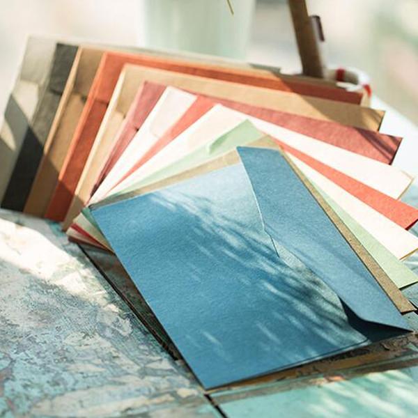 50 pçs / lote estilo ocidental de alta-grade retro grande envelope de negócios 250g papel de importação A5 envelope 23 * 16.3 cm Convite de papel Kraft