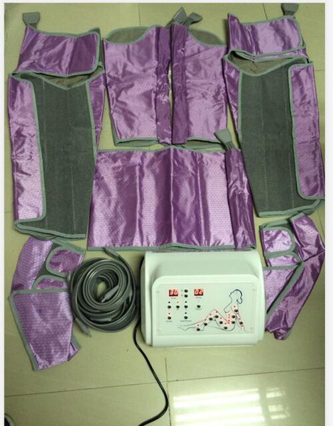 Nueva llegada portátil Potente presión de aire Presión de cuerpo completo Traje adelgazante Drenaje linfático Máquina de presoterapia de desintoxicación