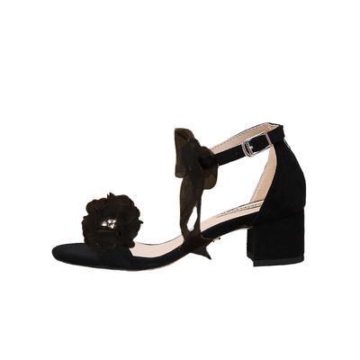 black 4.5cm heel