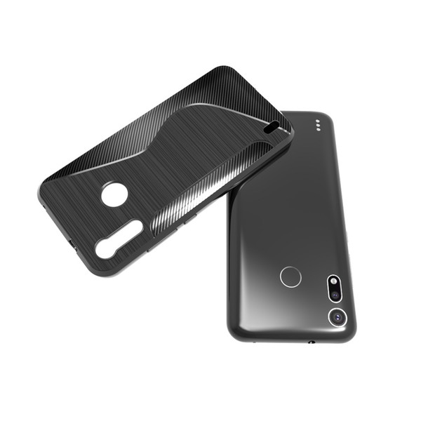 1.3mm Shockproof Carbon Fiber Brushed Soft Armor Case For Huawei Honor View 20 MOTO P40 One Vision Sony Xpaer XZ4 Compact / Xperia Ace