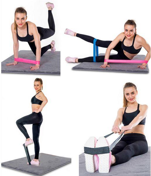 Direnç Bantları spor Döngü Yoga Pilates Ev GYM Fitness Egzersiz Egzersiz Eğitimi pull up Kauçuk Bantları Toptan