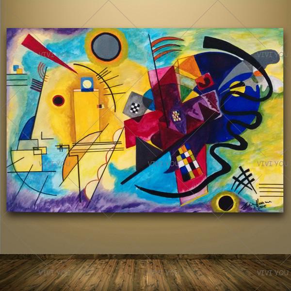 거실 침실 장식 T200118에 대한 회화 클래식 Cansva 예술 벽 포스터 및 스티커 손수 오일 페인팅 바실리 칸딘스키 오일