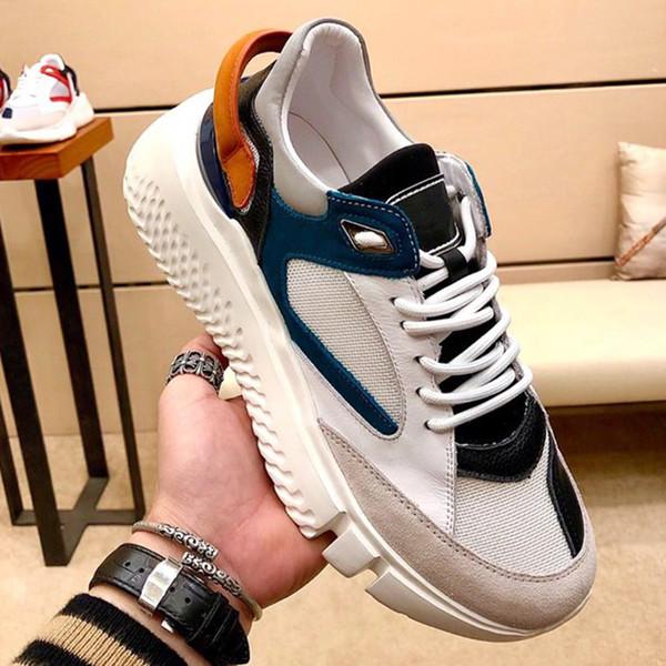 Men Shoes Breathable Rubber Sole Veloce Petrol Royal Luxury Casual Shoes for Men Zapatos de hombre Lace-Up Mens Footwears Sneaker Drop Ship