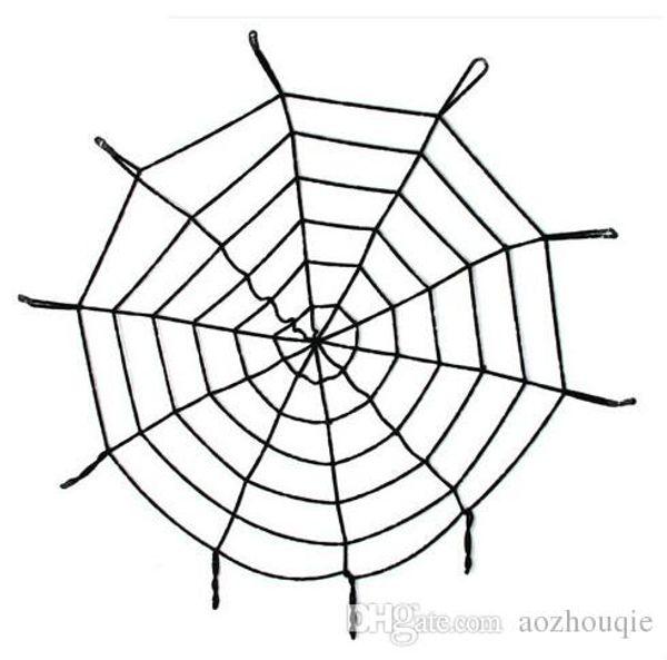 Atacado Novo Decoração de Halloween enorme spiderweb Partido Cobweb Web Suprimentos Halloween Decoração Presente para Dia das Bruxas