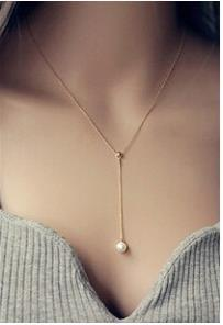 Clavicle Adjustable Necklace Pearl Pendant Fashion Necklace Mother of Pearl Necklace