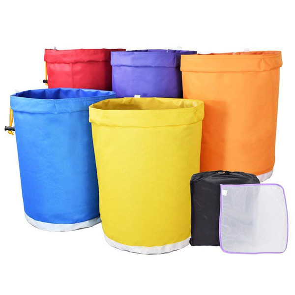 Set de 5 galones de Hash Bubble Hash Ice Herbal Essense Extractor Kit con malla de malla Oxford Filter Bags Garden Grow Bag Set de 5