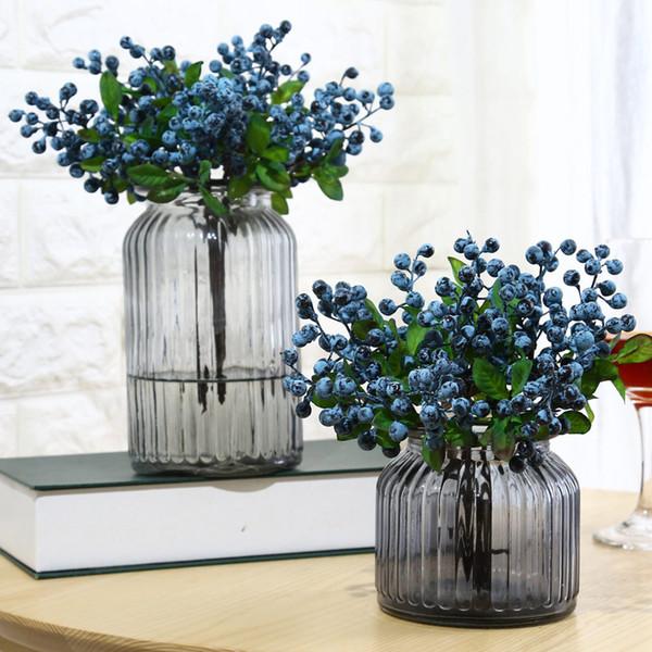 Simulação artificial Berry Flower Plant Bouquet Decoração de festa de casamento em casa XHC88