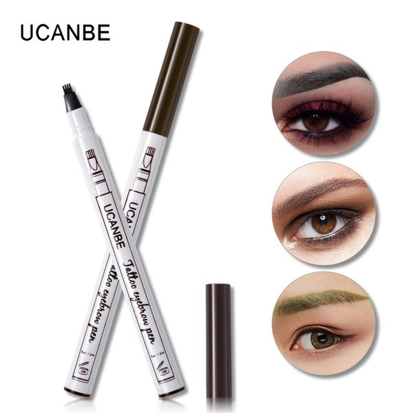 DHL FREE 3 Colors Fine Sketch Liquid Eyebrow Pen Long Lasting Makeup Waterproof Smudge-proof Eye Brow Pencil Tattoo Kit Tool Durable Tattoo