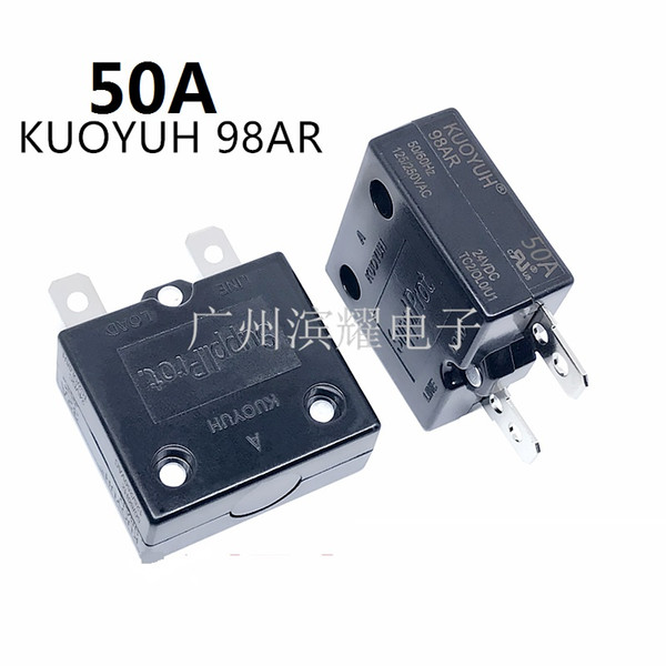 best selling Taiwan KUOYUH 98AR-50A Overcurrent Protector Overload Switch Automatic Reset
