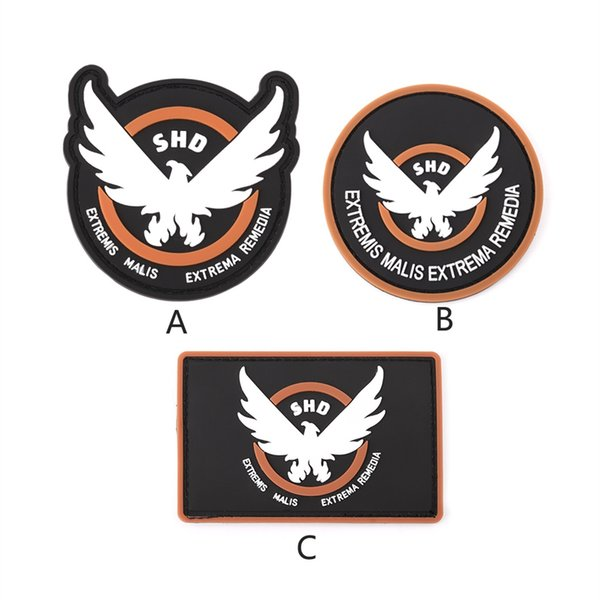 Toppa in PVC The Division SHD Military Tactical Armband Morale Rubber Badge 3 Style # 717441