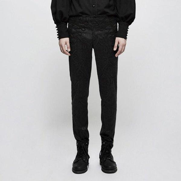 Pantalon à taille haute gothique Jacquard pour hommes Punk Rave K-302
