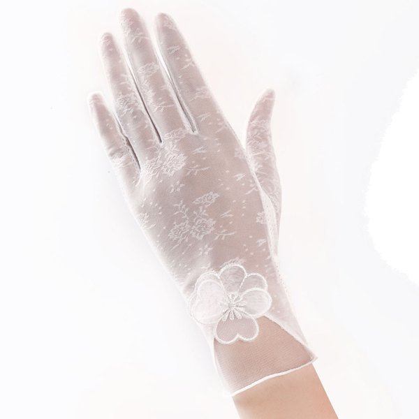New Coming Lovely Women's Summer UV-Proof Driving Gloves Gloves Lace guantes mujer femme handschoenen luvas eldiven