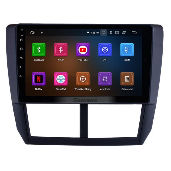 9 polegadas Android 9.0 HD Touchscreen Unidade Cabeça GPS Car Radio Para 2008 2009 2010 2011 2012 Subaru Forester com Bluetooth Suporte carro dvd 3G / 4G