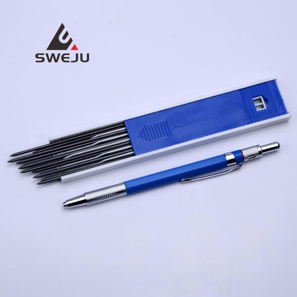 Симпатичные механические карандаши 2.0 мм для рисования набор карандашей металлический корпус автоматический Каваи канцелярские принадлежности