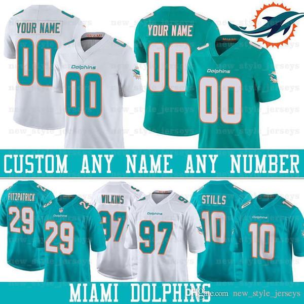 check out 20abb feb25 2019 Custom Miami Men Dolphins Jersey 32 Kenyan Drake 29 Minkah Fitzpatrick  99 JASON TAYLOR 47 KIKO ALONSO 10 KENNY STILLS Football Jerseys From ...