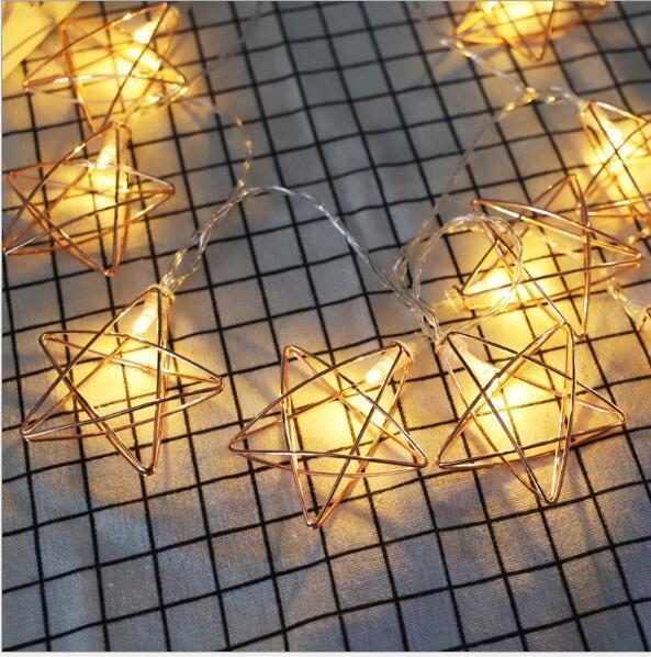 Estrela de cinco pontas de 1,5 m 10 lâmpada