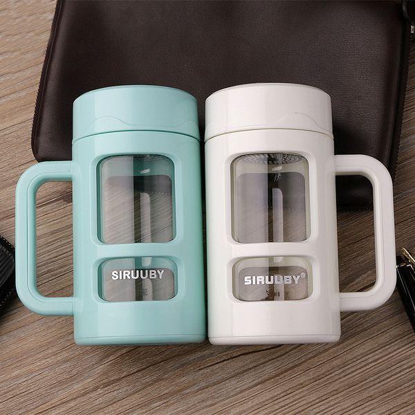 D-Form Handgriff Schalen Wasser Becher 400ml Kapazitäts Kaffee Wasser Tee