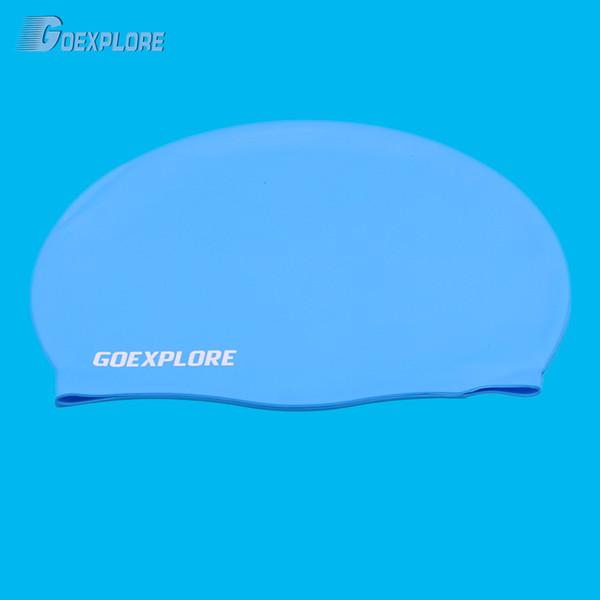 Swimming Cap Waterproof Silicone Swim Pool Hat for Adult Long Hair Womens Mens