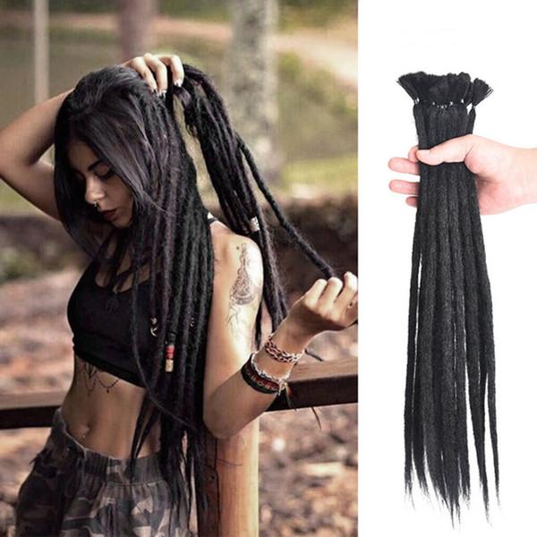 Nuevas extensiones de cabello para el cabello Trenzas de trenzar el pelo trenzado manual de África hicieron 1 pieza de 20 pulgadas color mezclado envío gratuito