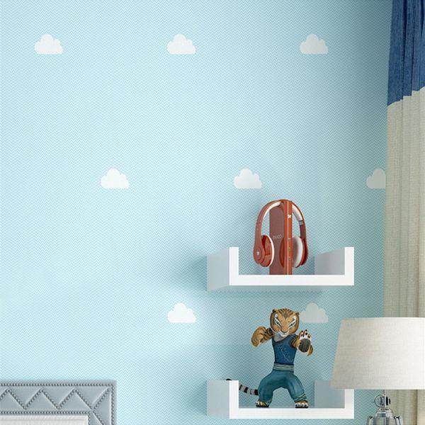 Großhandel Kinderzimmer Tapete Mittelmeer Mädchen Prinzessin Rosa Wolken  Blauer Himmel Weiß Junge Schlafzimmer Cartoon Tapete Von Adeir, $42.05 Auf  ...