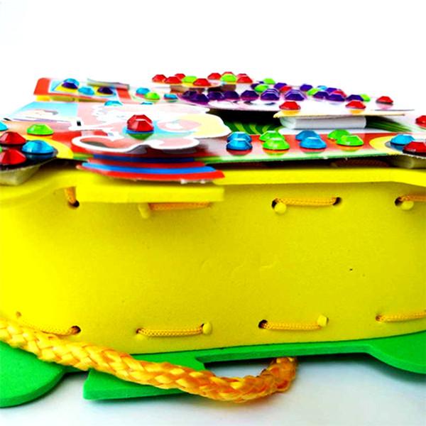 uilding Construction Toys Blocks 1pcs Baby DIY Cartoon Bags Colorful Kid Assembly Bag Toy Children Handmade Handbag Diamond Hand Seams Cr...