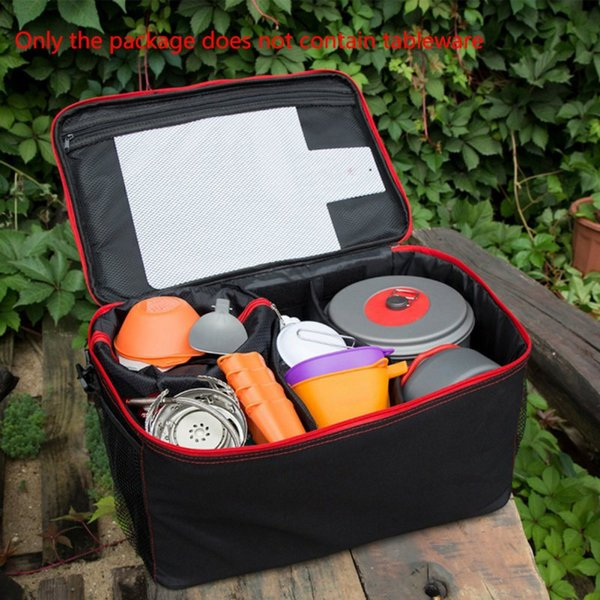 Outdoor Camping Tableware Foldable Picnic Bags Kitchen Cutlery Cookware Bag BBQ Fruit Picnic Bag Backpack
