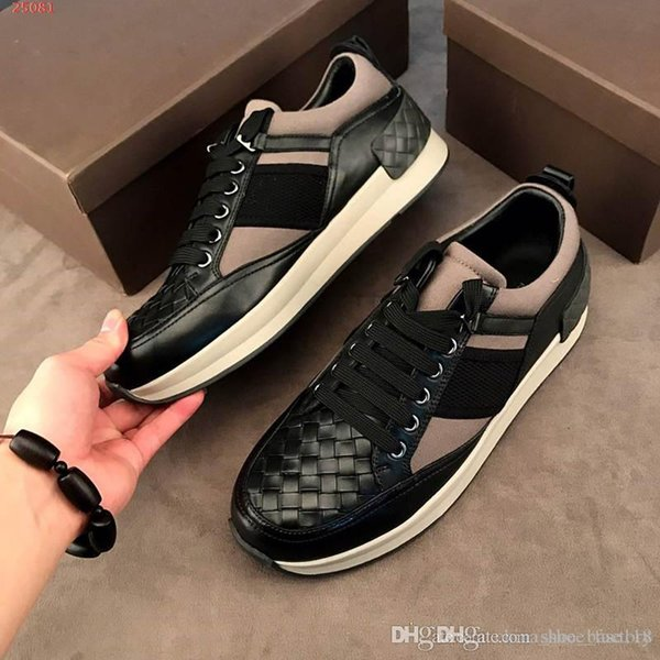 New men sports shoes Multi-material splicing style Plaid sneakers Casual flat running shoes for outdoor travel,Size 39-43