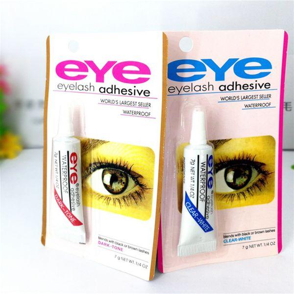Adhesive False Eyelashes Eye Lash Glue Makeup Clear White Black Waterproof Makeup Tools 7g