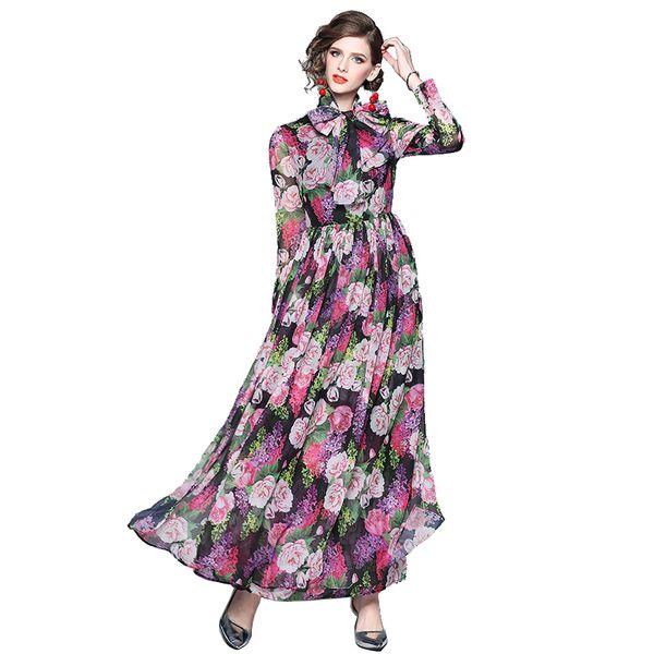 163d4e1cc91e Оптом / в розницу / прямая поставка Оптовые Женщина Мода Цветочные Печатный  с длинным рукавом Повседневная